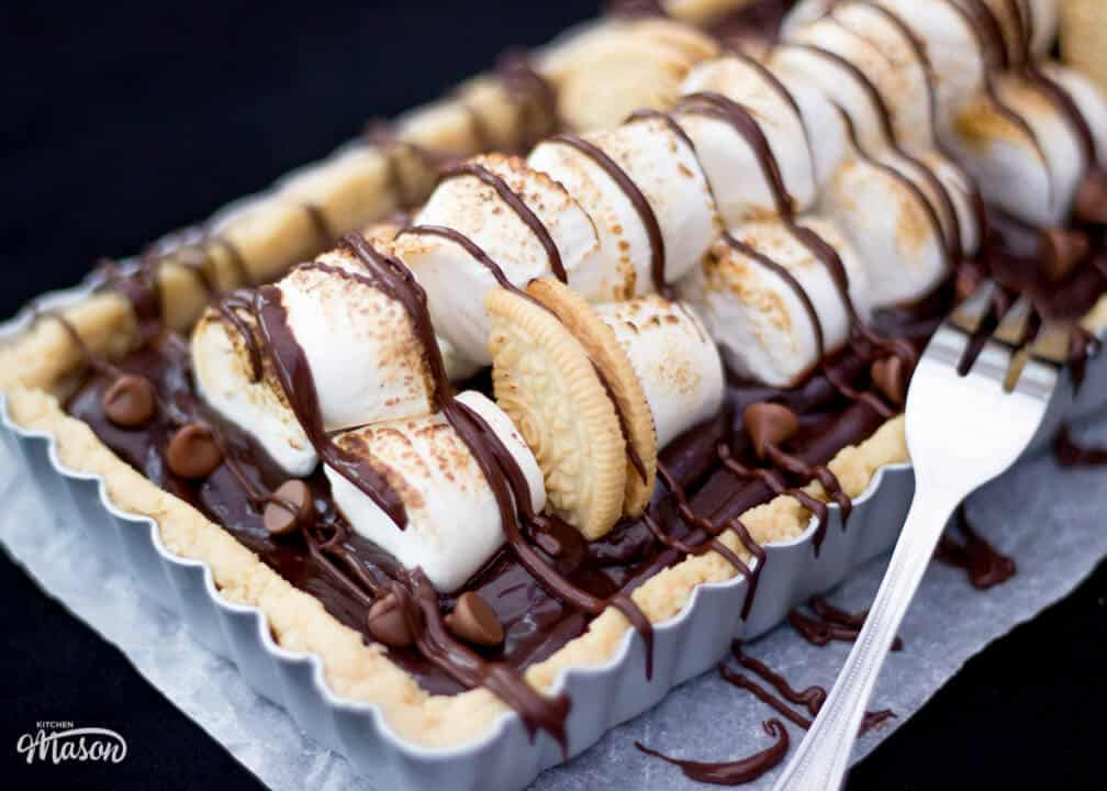 Easy No Bake S'mores Tart