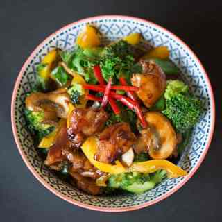 Sticky Chicken Stir Fry