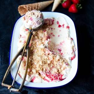 Strawberry Shortbread Ice Cream