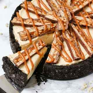 No Bake Snickers Cheesecake