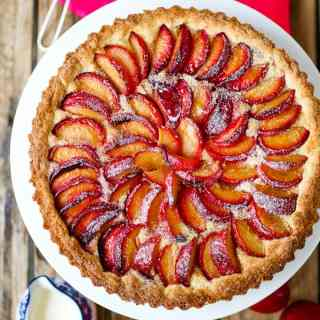 Plum and Almond Tart with Homemade Pastry