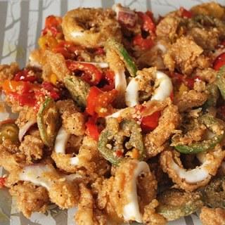 Calamari with Hot Peppers