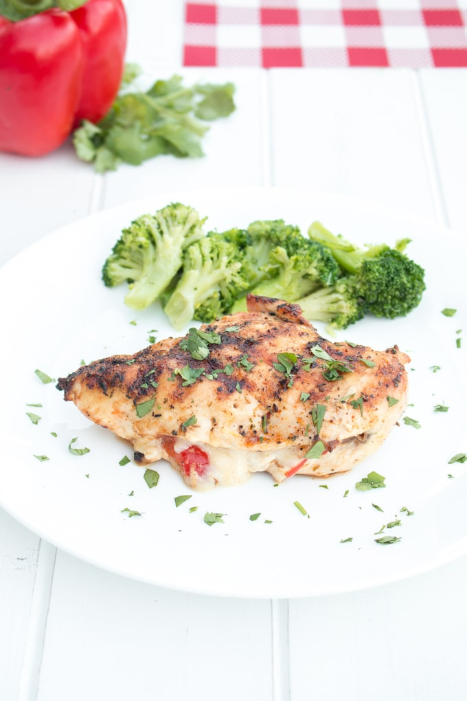 Cajun style chicken breasts stuffed with mozzarella cheese and ...