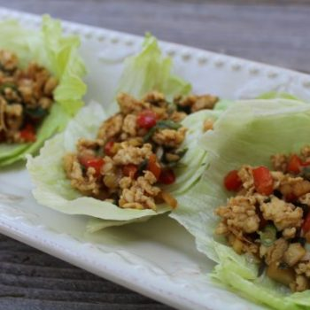 PF Chang inspired lettuce wraps with chicken