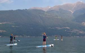 SUPing on Lake Como with KTS40