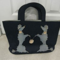 Very Merry Vintage Poodle Purses