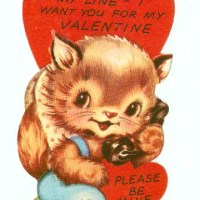 """I hope I've got you on my line -- I want you for my Valentine"""