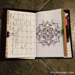 InstaDiary : August Monthly Calendar in my Mandala BuJo