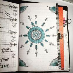InstaDiary : Added a single color to my birthday week mandala…..
