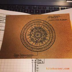 My October calendar wheel card is ready to go!