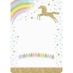 Small Crop Of Unicorn Birthday Invitations