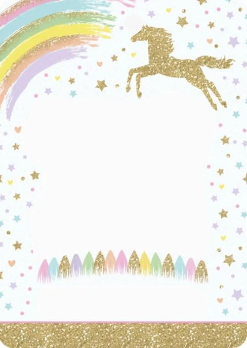 Medium Of Unicorn Birthday Invitations