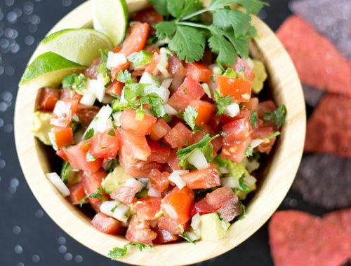 This recipe for Pico de Gallo has a few secret ingredients to make it the perfect side for any Mexican dish! Fresh, healthy and delicious!