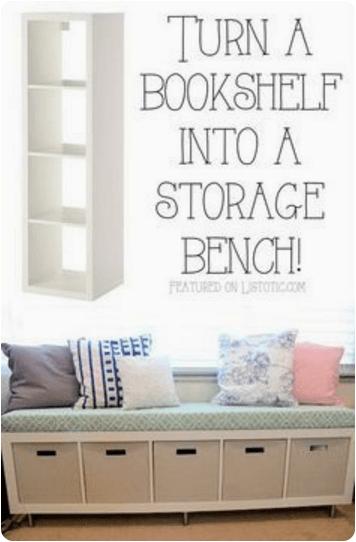 Bookshelf bench seat