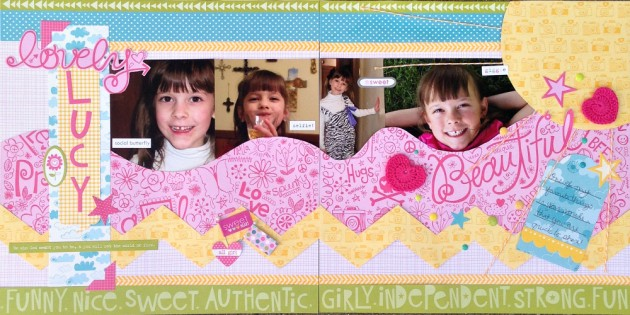 Lovely Lucy Bella BLVD 2-page layout