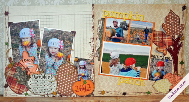 2-Page Pumpkin Patch Layout / Fall / Authentique