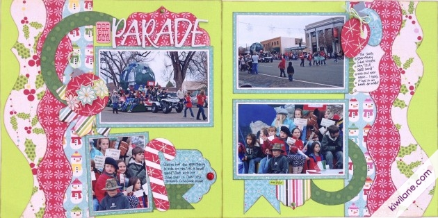 Parade 2-page Christmas Layout