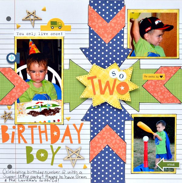 Birthday Boy 1-page layout