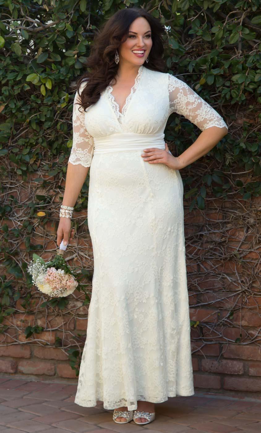 Bridal Boutique plus size wedding dresses Amour Lace Wedding Gown
