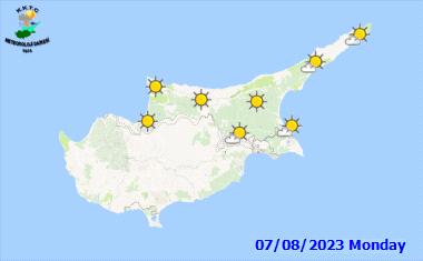 Der Wetterbericht für Zypern - in 3 Tagen