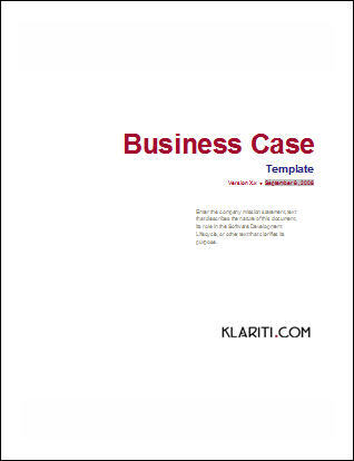 Ways To Write Format And Create Business Case Templates