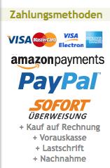 Angebotene Zahlungsmethoden