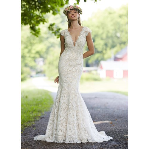 Medium Crop Of Fit And Flare Wedding Dress