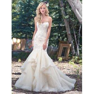 Startling Detachable Trains Mermaid Wedding Dresses Lace Maggie Sottero Mermaid Wedding Dress 33300740 Mermaid Wedding Dresses