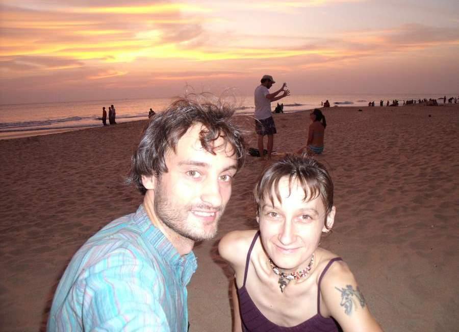 Per saulėlydį pliaže