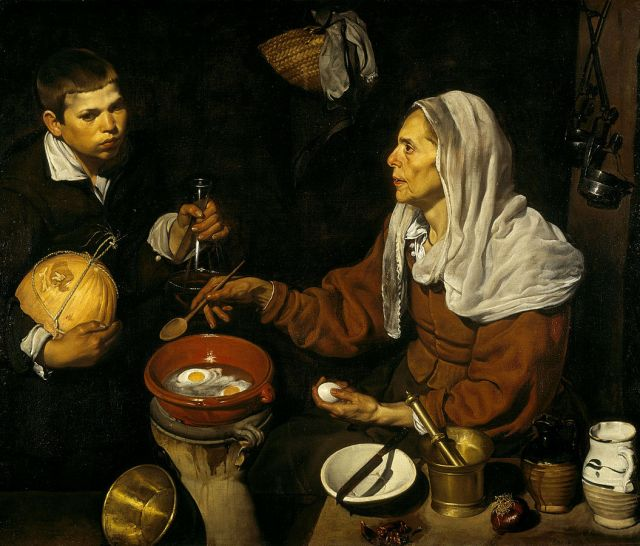 Diego Velázquez, Old Woman Frying Eggs