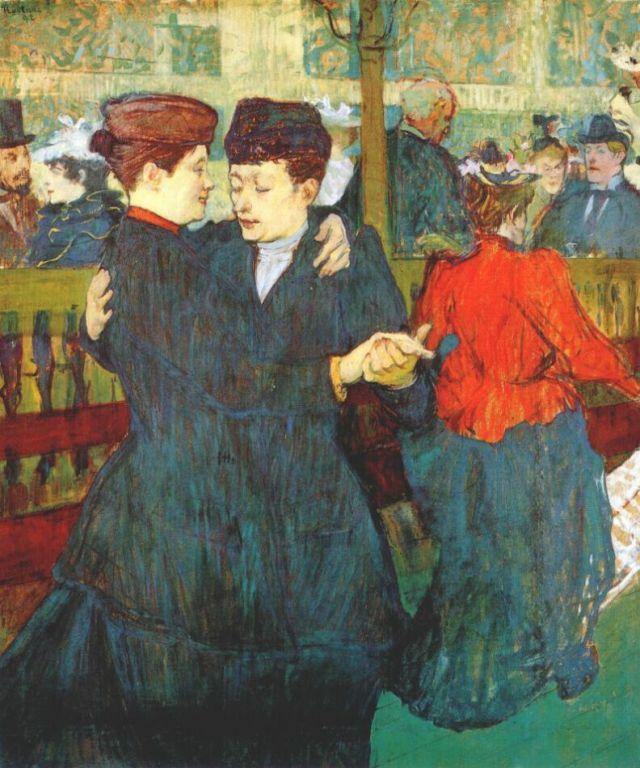 Henri de Toulouse-Lautrec, At the Moulin Rouge: Two Women Waltzing