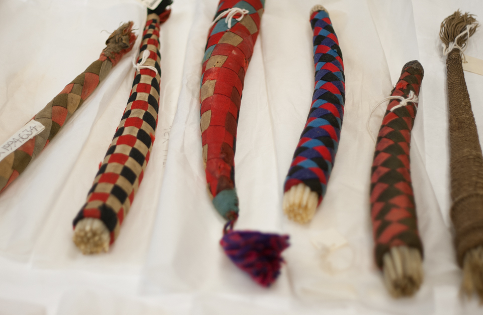 Shetland Knitting Sheaths held in the Shetland Museum and Archives