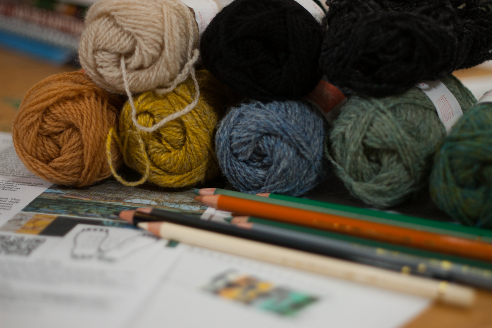 More yarn and pencil palettes to match...