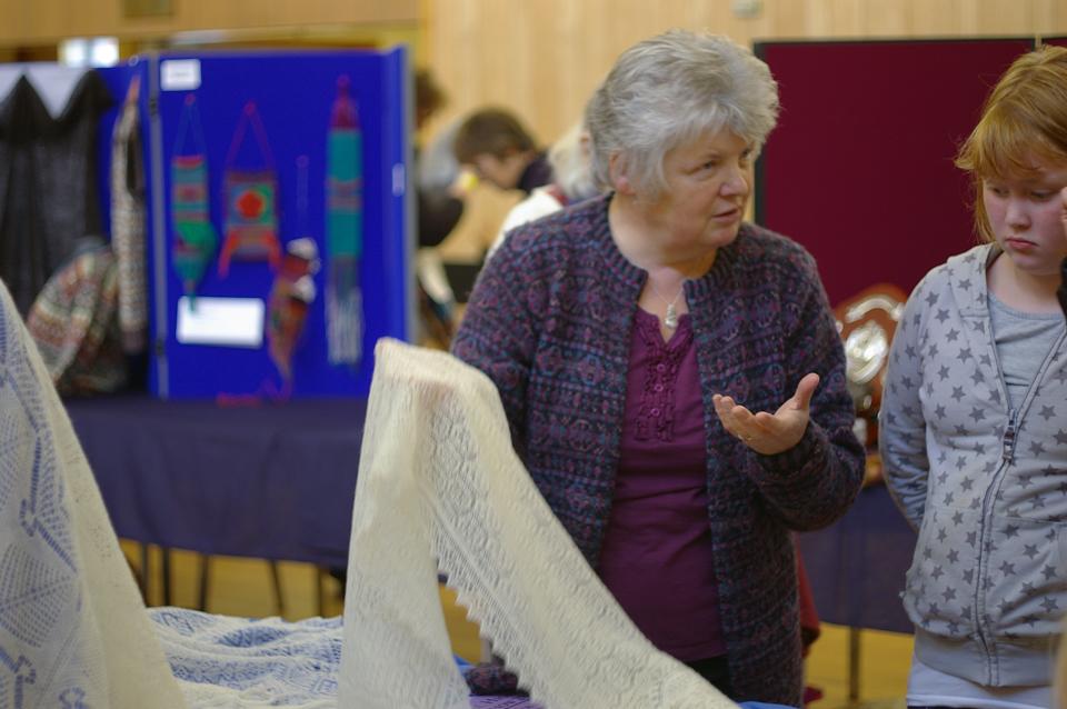 Kathleen Anderson explains lace