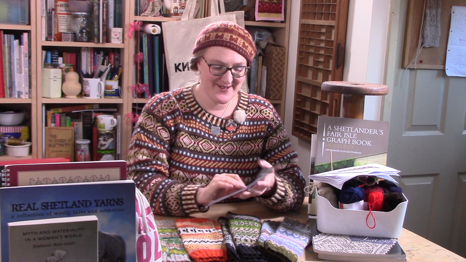 Giving it my all in the KNITSONIK YouTube Studio!