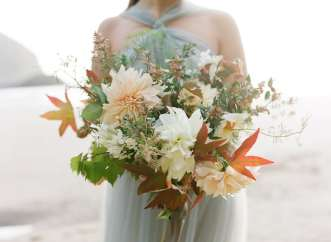 Use Autumnal Leaves In Wedding Bouquets