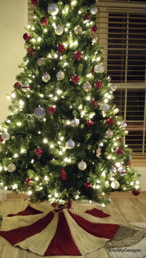 Crochet christmas tree skirt knot my designs