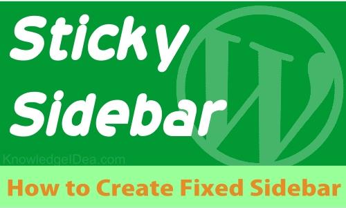 Sticky Sidebar widget