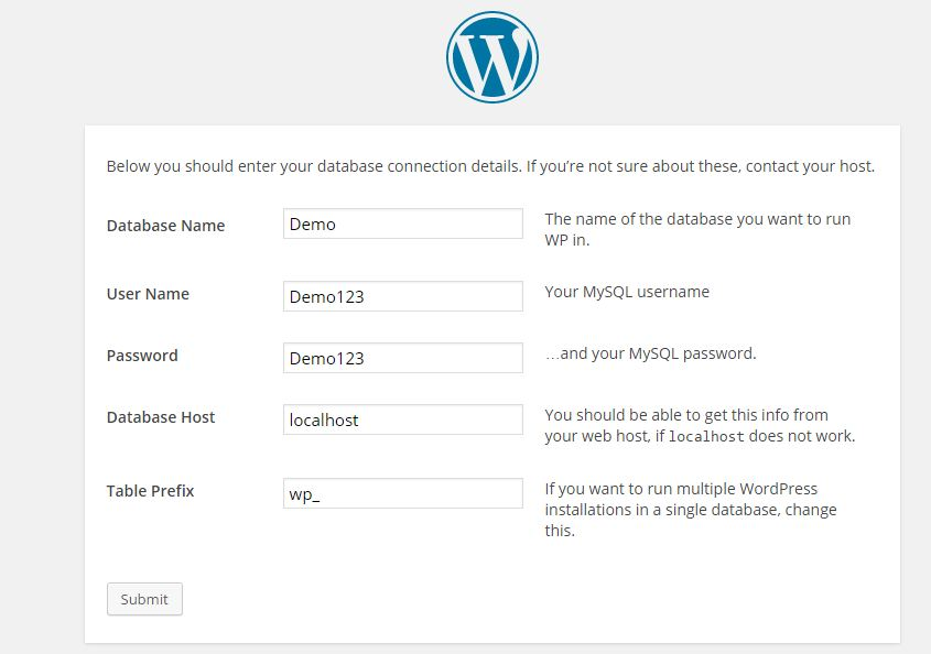 How to Install WordPress in HostGator step 4