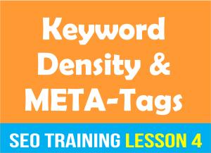 Keyword Density and Meta Tags_SEO Training