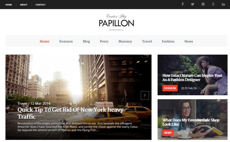 PAPILLON Simple WordPress Theme