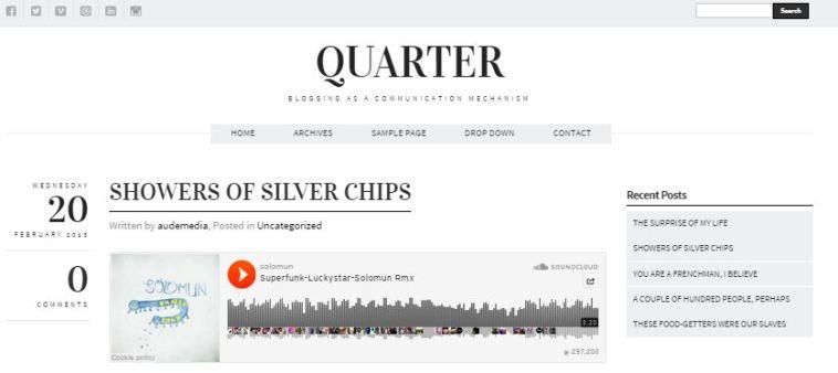 Quarter Simple WordPress Theme