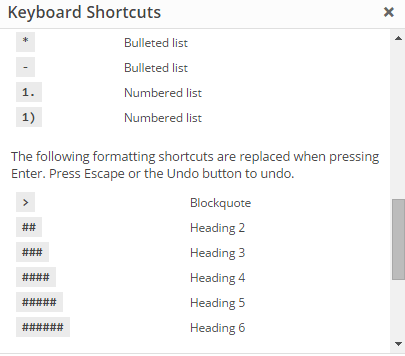 WordPress 4.3 Introduce New Features shortcuts formatting