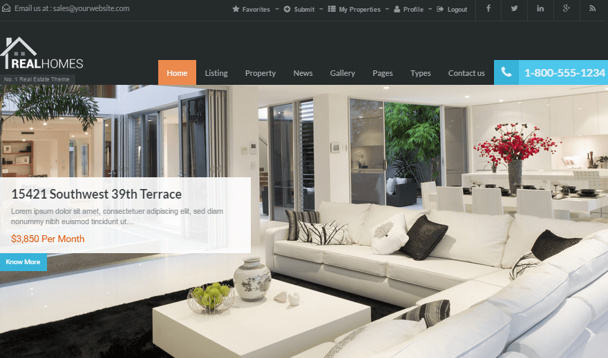 Real Homes Real Estate WordPress Themes