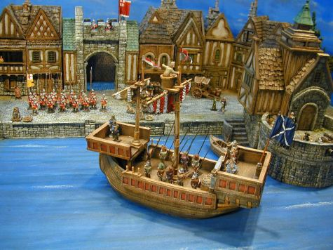 Miniature seaport