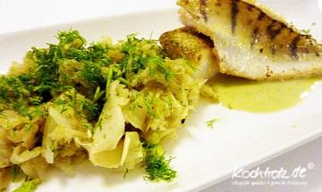 Fenchel-Gemüse mit Zander