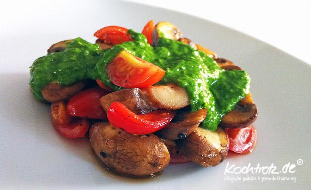scharfes Bärlauch Pesto, sehr einfaches Rezept