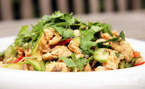 schneller thai salat veggie or not kochtrotz food und reise blog mit rezepten f r gluten. Black Bedroom Furniture Sets. Home Design Ideas