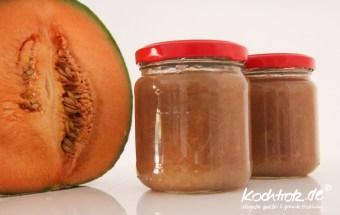 Rhabarber-Honigmelonen-Marmelade
