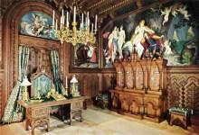 Schloss Neuschwanstein Arbeitszimmer von König Ludwig II. (2) - Kolorierte Fotografie